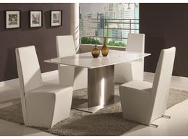 Chintaly CYNTHIA DINING TABLE - CYNTHIA-DT-WHT