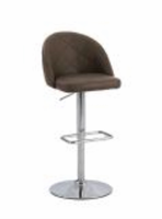 Chintaly Diamond Pattern Pneumatic Stool - Chrome - 0669-AS-BRW