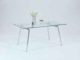 Chintaly DINING TABLE-CHROME - COLLEEN-DT-CHR