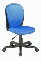 Chintaly Fabric Back and Seat Youth Desk Chair - Black Finish(BLU) - 4245-CCH-BLU
