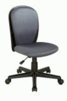 Chintaly Fabric Back and Seat Youth Desk Chair - Black Finish(GRY) - 4245-CCH-GRY