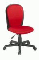 Chintaly Fabric Back and Seat Youth Desk Chair - Black Finish(RED) - 4245-CCH-RED
