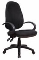 Chintaly Fabric Back &Seat, Adjustable Office Chair - Matt Black - 4916-CCH-BLK