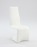 Chintaly Fully Upholstered Contour Back Side Chair - JOANN-SC-WHT