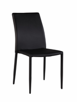 Chintaly Fully Upholstered Stackable Side Chair BLK - FIONA-SC-BLK