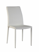 Chintaly Fully Upholstered Stackable Side Chair WHT - FIONA-SC-WHT