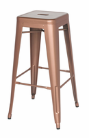Chintaly Galanized Steel Bar Stool - New Copper - 8015-BS-ROSE-GLD