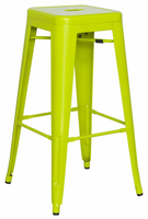Chintaly Galvanized Steel Bar Stool - Lime Green - 8015-BS-GRN