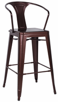 Chintaly Galvanized Steel Bar Stool - Red Copper Finish(8020) - 8020-BS-COP