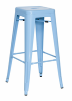 Chintaly Galvanized Steel Bar Stool - Sky Blue - 8015-BS-BLU