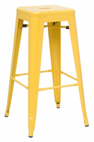 Chintaly Galvanized Steel Bar Stool - Yellow - 8015-BS-YLW
