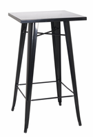 Chintaly Galvanized Steel Bar Table - Black - 8421-PUB-BLK