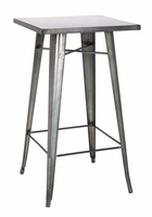 Chintaly Galvanized Steel Bar Table - Gun Metal - 8421-PUB-GUN