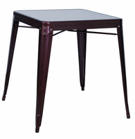 Chintaly Galvanized Steel Dining Table - Red Copper - 8029-DT-COP