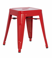 Chintaly Galvanized Steel Side Chair - Red - 8018-SC-RED