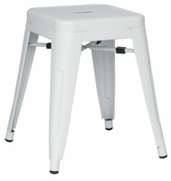 Chintaly Galvanized Steel Side Chair - White - 8018-SC-WHT