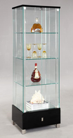 Chintaly Glass Curio - Gloss Black - 6628-CUR