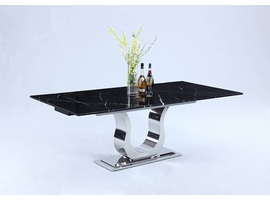 Chintaly Imports Nadia Black Dining Table