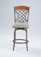 Chintaly Memory Return Swivel Bar Stool - Autumn Rust Finish(0782) - 0782-BS