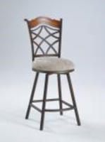 Chintaly Memory Return Swivel Bar Stool - Autumn Rust Finish(0792) - 0792-BS