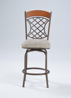 Chintaly Memory Return Swivel Counter Stool - Autumn Rust Finish(0782) - 0782-CS