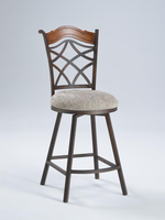 Chintaly Memory Return Swivel Counter Stool - Autumn Rust Finish(0792) - 0792-CS