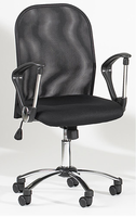 Chintaly Mesh Back Swivel Tilt Pneumatic Gas Lift Chair - Black - 3696-CCH
