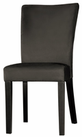 Chintaly Modern Parson Side Chair - Satin Black Finish with Black - MONICA-PRS-SC-BLK