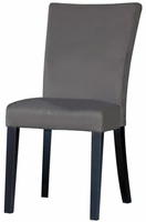 Chintaly Modern Parson Side Chair - Satin Black Finish with Gray - MONICA-PRS-SC-GRY