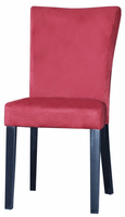 Chintaly Modern Parson Side Chair - Satin Black Finish with Red - MONICA-PRS-SC-RED