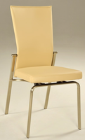 Chintaly Motion Back Side Chair - Brushed Nickel - MOLLY-SC-BGE
