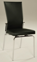 Chintaly Motion Back Side Chair - Chrome Finish(MOLLY) - BLK - MOLLY-SC-BLK