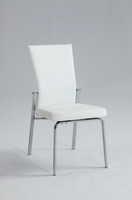 Chintaly Motion Back Side Chair - Chrome Finish(MOLLY) - WHT - MOLLY-SC-WHT