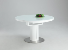 Chintaly NORA TABLE - WHITE - NORA-DT-WHT