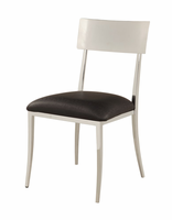 Chintaly Open Back Side Chair - Chrome - LINDSAY-SC-BLK