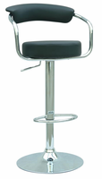Chintaly Pneumatic Gas Lift Adjustable Height Swivel Stool BLK(0326) - 0326-AS-BLK