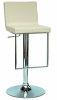 Chintaly Pneumatic Gas Lift Adjustable Height Swivel Stool CRM Finish(0351) - 0351-AS-CRM