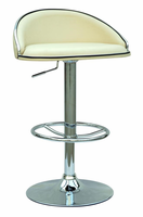 Chintaly Pneumatic Gas Lift Adjustable Height Swivel Stool CRM Finish(0388) - 0388-AS-CRM