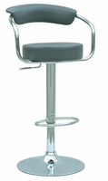 Chintaly Pneumatic Gas Lift Adjustable Height Swivel Stool GRY Finish(0326) - 0326-AS-GRY