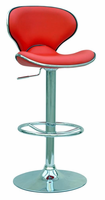 Chintaly Pneumatic Gas Lift Adjustable Height Swivel Stool RED Finish(RED)(0364) - 0364-AS-RED