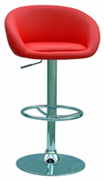 Chintaly Pneumatic Gas Lift Adjustable Height Swivel Stool RED Finish(RED) - 0380-AS-RED