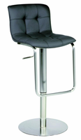 Chintaly Pneumatic Gas Lift Adjustable Height Swivel Stool - Shiny Stainless Steel Finish(0515) - 0515-AS