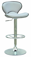 Chintaly Pneumatic Gas Lift Adjustable Height Swivel Stool WHT Finish(0364) - 0364-AS-WHT