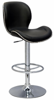 Chintaly Pneumatic Gas Lift Height Swivel Stool - Chrome Finish(0310) - 0315-AS