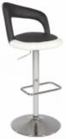 Chintaly Pneumatic Gas Lift Swivel Height Stool - Chrome AS - 0648-AS