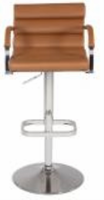 Chintaly Pneumatic Gas Lift Swivel Height Stool - Chrome BRW - 0661-AS-BRW