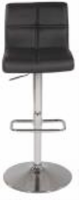 Chintaly Pneumatic Gas Lift Swivel Height Stool - Chrome Finish BLK( 0665) - 0665-AS-BLK