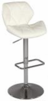 Chintaly Pneumatic Gas Lift Swivel Height Stool - Chrome WHT(0645) - 0645-AS-WHT