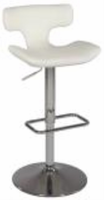Chintaly Pneumatic Gas Lift Swivel Stool - Chrome Finish(0623) - WHT - 0623-AS-WHT