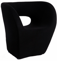 Chintaly Stationary Arm Fun Chair - Faux Cashmere Finish(2302) - BLK - 2302-ACC-BLK